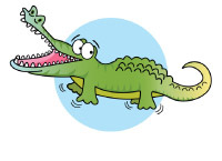 crocodile swimming lessons